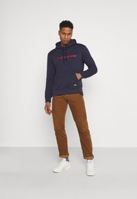 G-Star - GRAPHIC CORE HDD SW L\S - Hoodie - sartho blue - 1