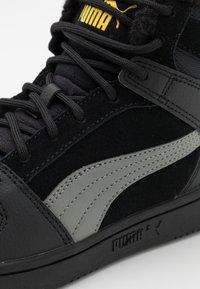 Puma - REBOUND LAYUP JR  - Sneaker high - black/ultra gray/super lemon - 5