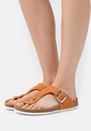 MOLLY THONG - Sandaler m/ tåsplit - rust orange