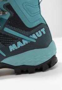 Mammut - DUCAN HIGH GTX WOMEN - Hiking shoes - dark waters - 5