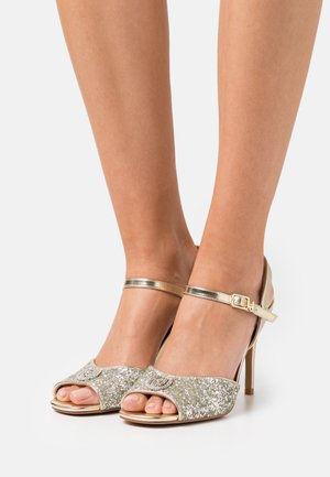 APRIL GLITTER METALLIC  - Sandals - silver/light gold