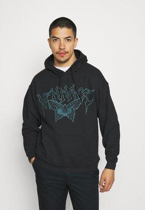 WASHED ROSEBOWL BUTTERFLY REGULAR HOODIE - Sweatshirt - black