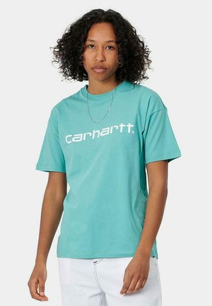 SCRIPT - Camiseta estampada - bondi/white