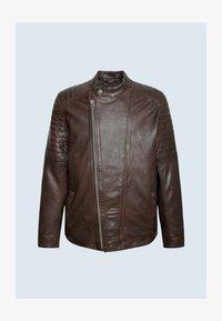 LOCKE - Leather jacket - marrón