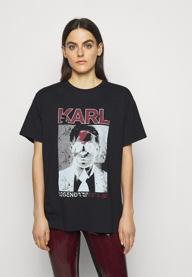 KARL ROCK STAR TEE - Print T-shirt - black