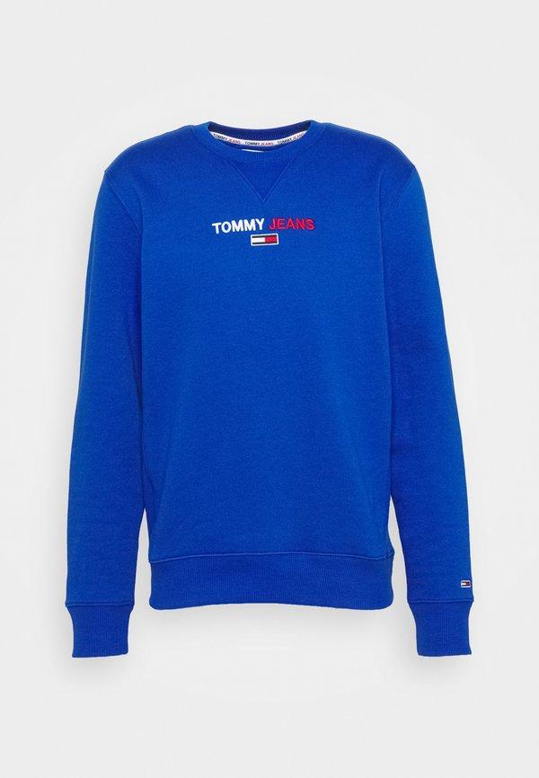 Tommy Jeans LINEAR LOGO CREW - Bluza - providence blue/niebieski Odzież Męska BOFT
