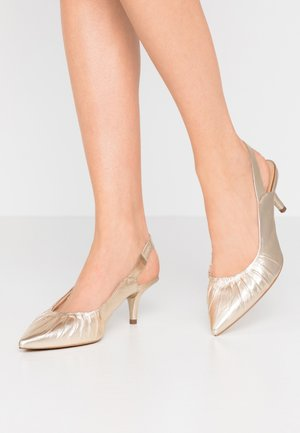 Klassiske pumps - gold