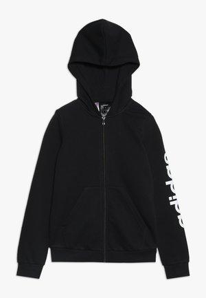 LIN UNISEX - Zip-up hoodie - black/white