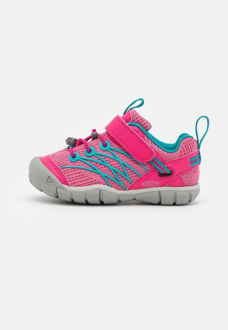 Keen - CHANDLER CNX - Hiking shoes - bright pink/lake green