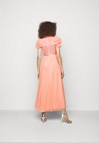 Needle & Thread - SHIRLEY RIBBON BODICE ANKLE MAXI DRESS - Festklänning - coral - 2