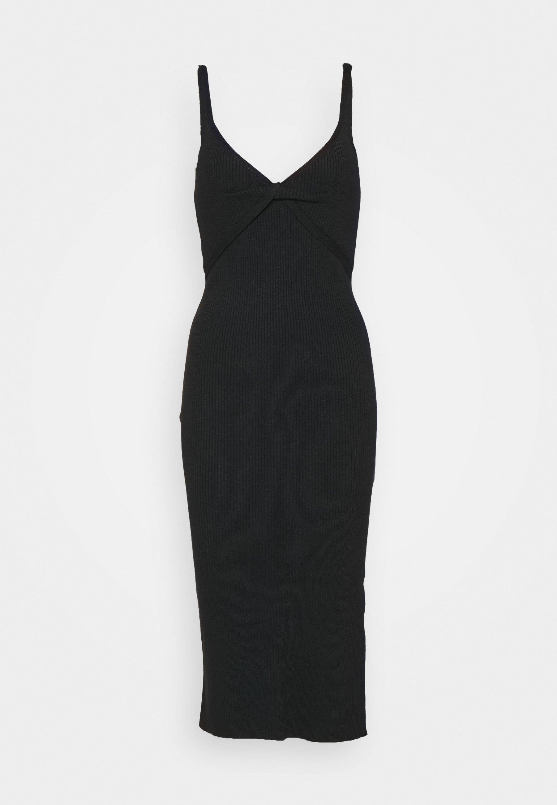 Mujer TWIST FRONT MIDI DRESS - Vestido de punto