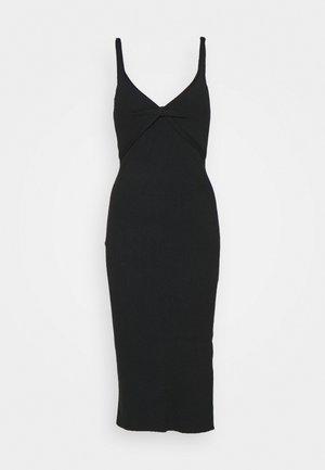TWIST FRONT MIDI DRESS - Jumper dress - black