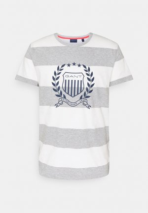 CREST - T-shirt con stampa - grey melange