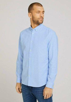 Hemd - bright ibiza blue white stripe