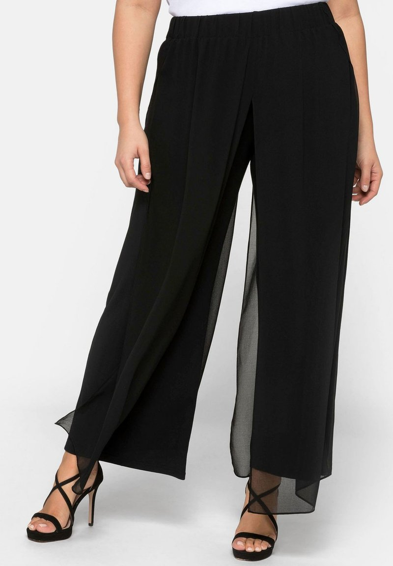 Sheego - Trousers - black