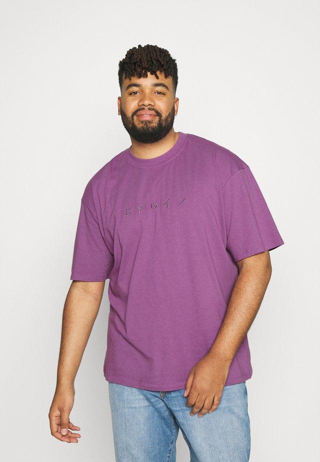 KATAKANA EMBROIDERY UNISEX  - Basic T-shirt - chinese violet