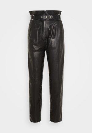 KIN - Spodnie skórzane - black