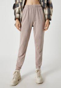 PULL&BEAR - Pantaloni sportivi - beige - 0