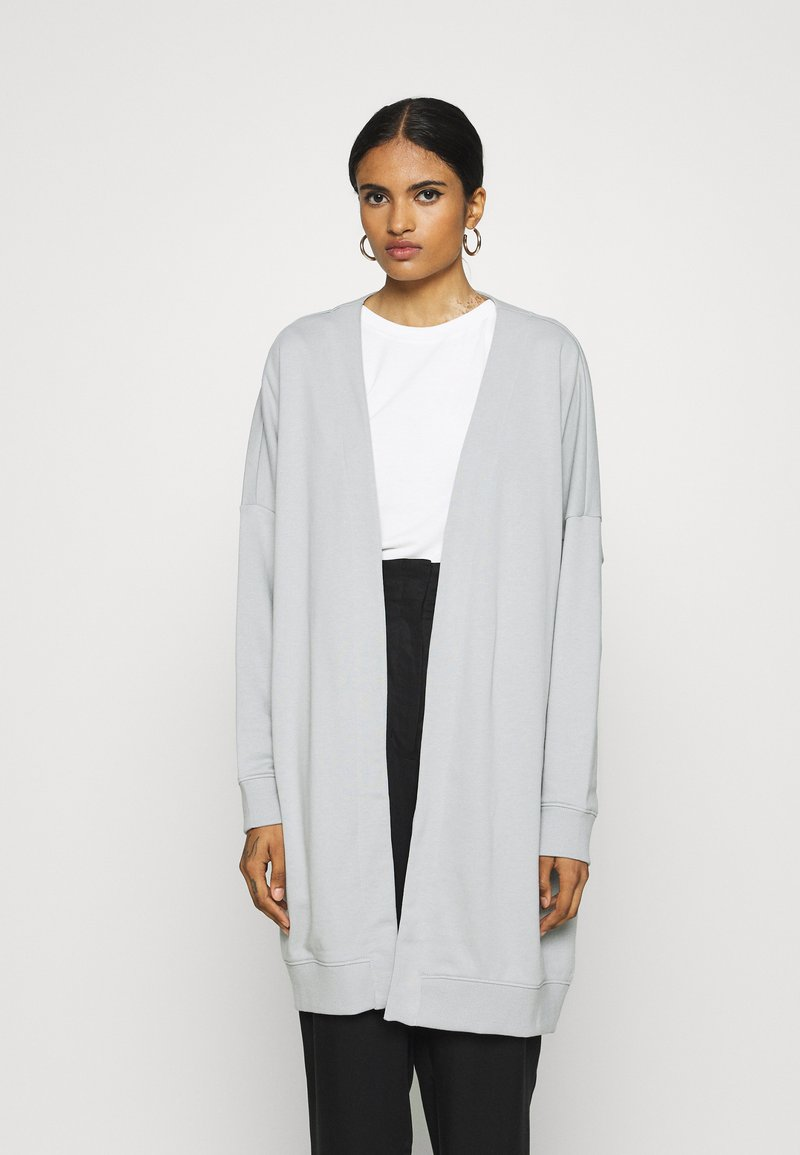 Monki - CAMILLA CARDIGAN - Zip-up hoodie - grey dusty light
