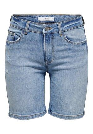 JDYKARL LIFE LANGE - Denim shorts - light blue denim
