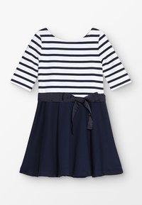 Polo Ralph Lauren - PONTE STRIPE - Robe en jersey - french navy/white - 0