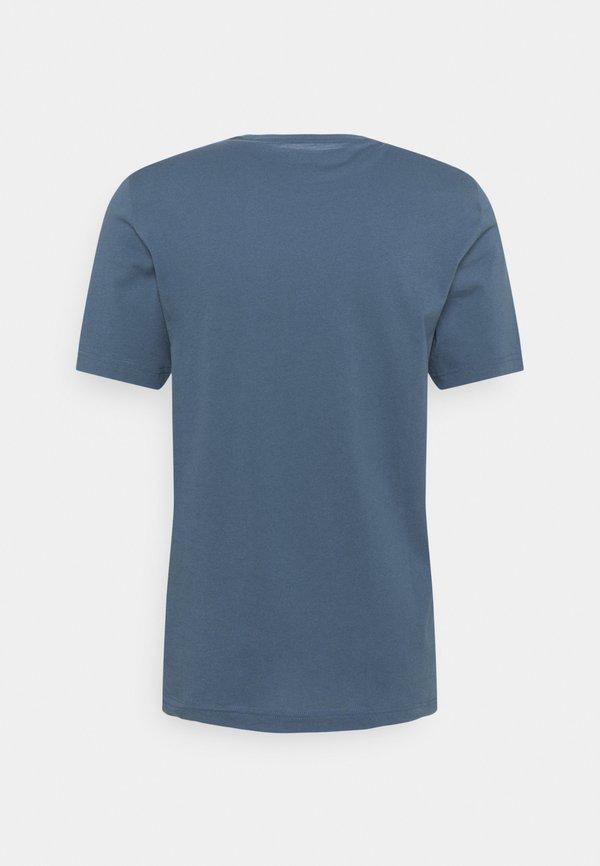 Mustang ALEX LOGO TEE - T-shirt z nadrukiem - ensigne blue/niebieski Odzież Męska VWEZ