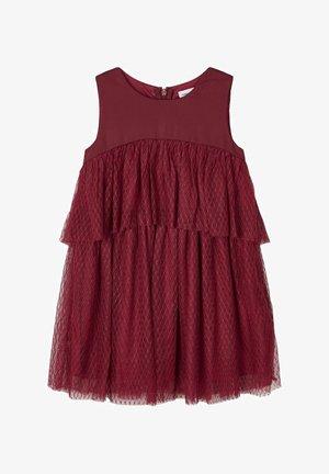 ABGESTUFTES TÜLL - Vestito elegante - cabernet