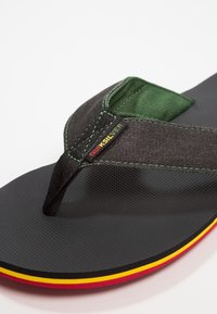 Quiksilver - MOLOKAI ABYSS - T-bar sandals - green/black - 5