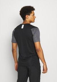 Nike Performance - DRY ACADEMY - Print T-shirt - black/iron grey/white - 2