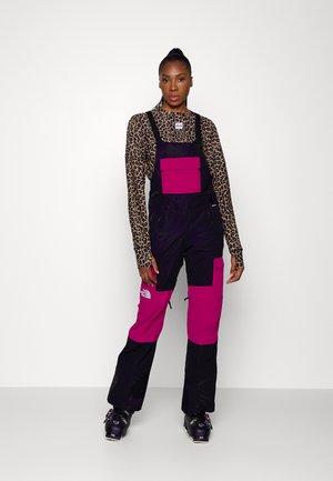 DRAGLINE BIB - Snow pants - black/roxbury pink