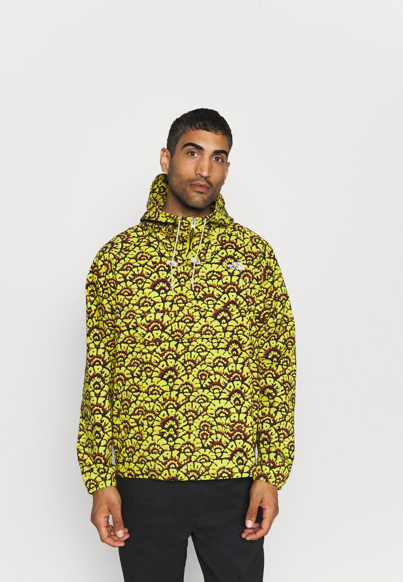 The North Face - PRINTED CLASS FANORAK - Outdoor jacket - mustard yellow/dark blue