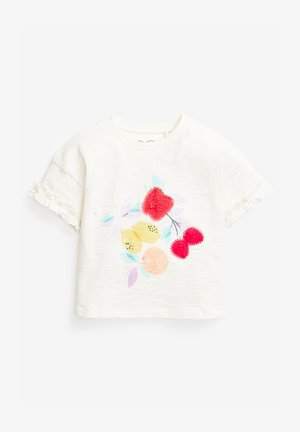 LEMON ORGANIC COTTON T-SHIRT (3MTHS-7YRS) - T-shirt imprimé - white