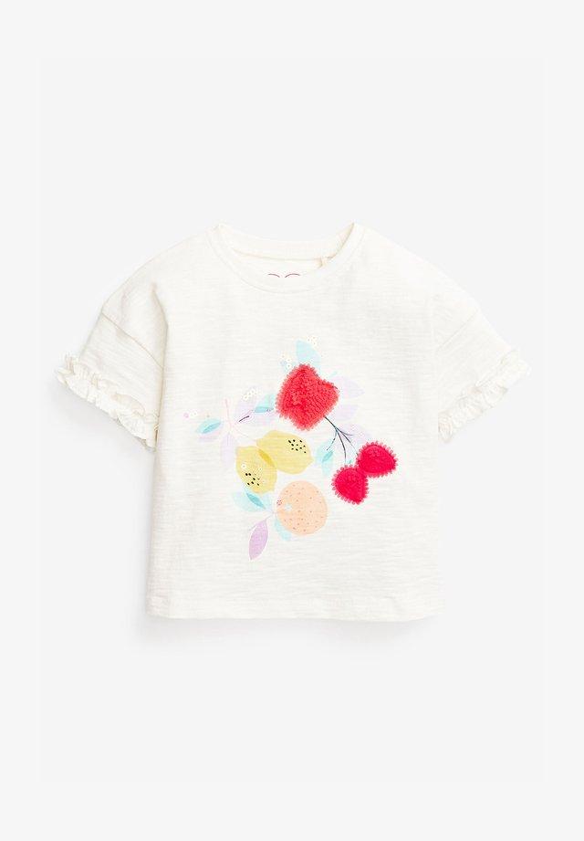 LEMON ORGANIC COTTON T-SHIRT (3MTHS-7YRS) - Print T-shirt - white