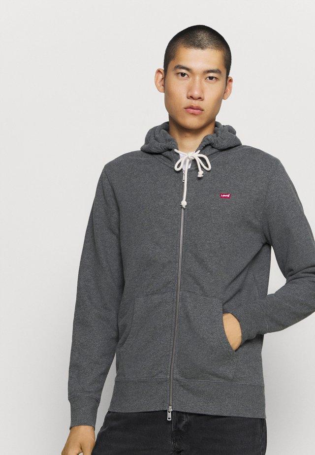 NEW ORIGINAL ZIP UP - veste en sweat zippée - charcoal heather