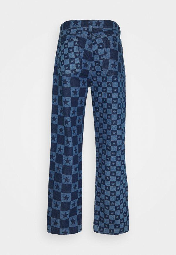 Jaded London DISCHARGE STAR PRINT SKATE - Jeansy Relaxed Fit - blue/niebieski Odzież Męska QCWA
