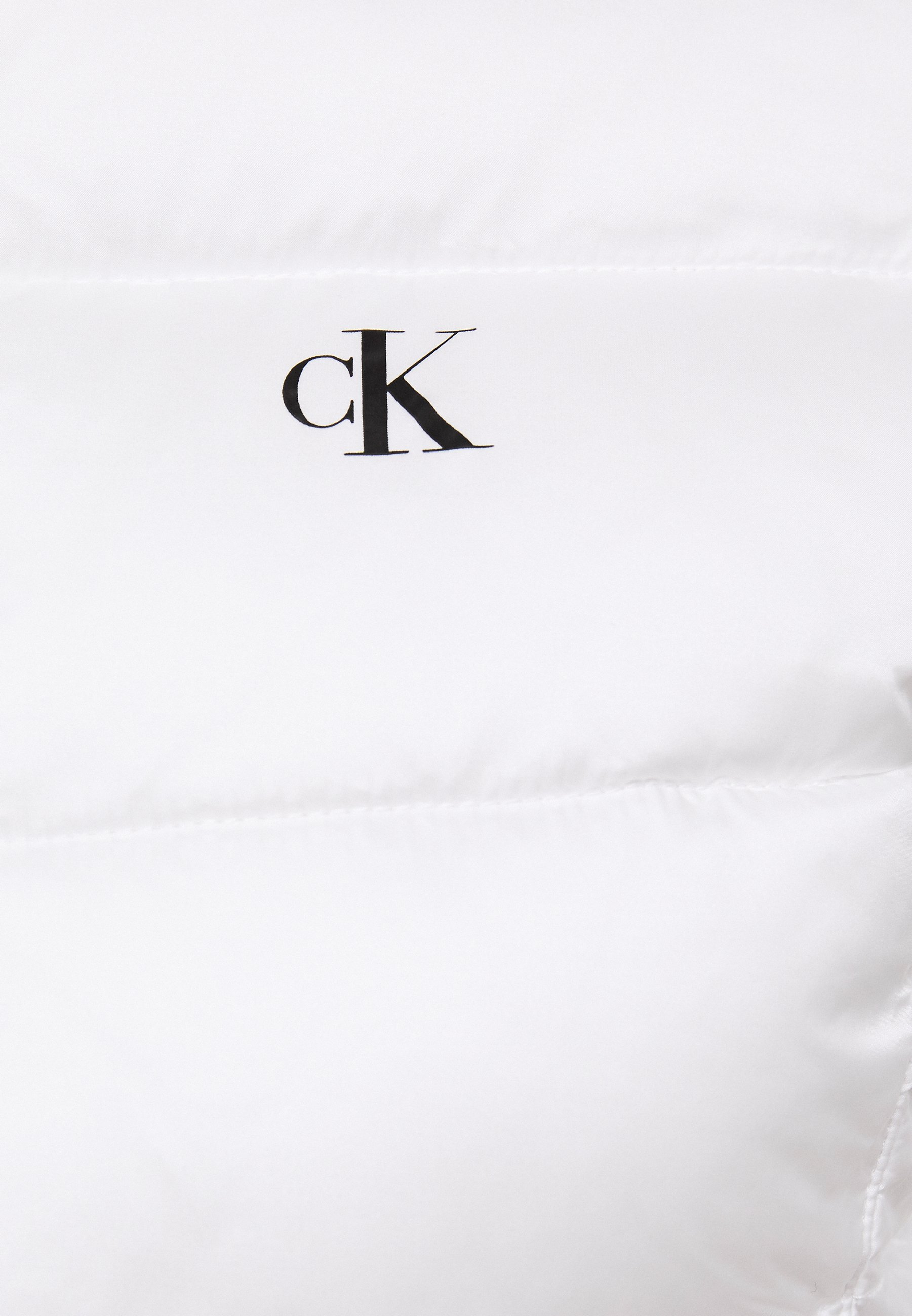 Calvin Klein Jeans LOGO FITTED PUFFER - Veste d'hiver - bright white - Manteaux Femme 1bsCR