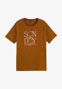 Scotch & Soda - Print T-shirt - spice - 6