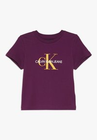 Calvin Klein Jeans - MONOGRAM  - T-shirts print - purple - 0