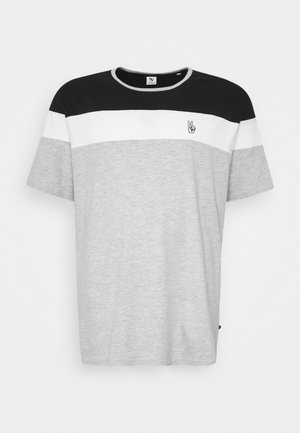 PANEL TEE - T-shirt print - grey melange