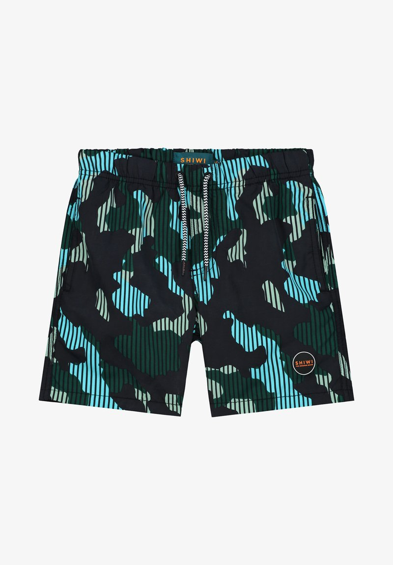 Shiwi - BOYS SWIMSHORT CAMOUFLAGE - Zwemshorts - cilantro