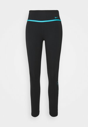 ONE 7/8 - Collants - black/chlorine blue