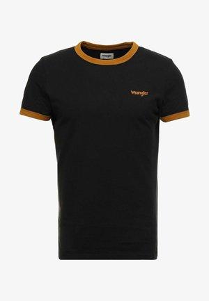 RINGER TEE - Basic T-shirt - black