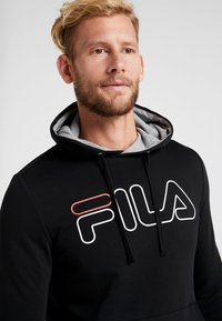 Fila - WILLIAM - Felpa con cappuccio - black - 3