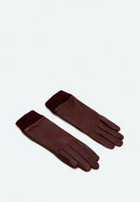 Uterqüe - Gloves - bordeaux - 2