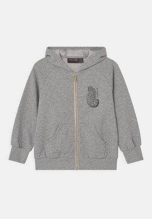 TIGER ZIP HOODIE UNISEX - Zip-up hoodie - grey melange