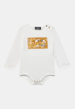 SETA BAROCCO FLAGE RICAMO LOGO UNISEX - Body - bianco/oro