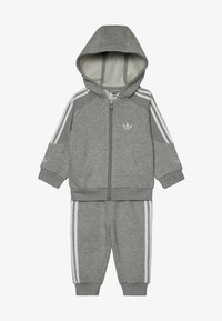 adidas Originals - OUTLINE HOODIE SET - Træningssæt - medium grey heather/white - 5