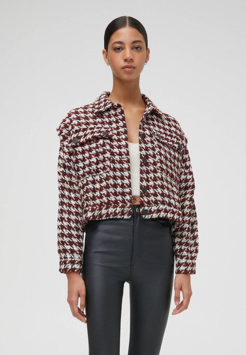 PULL&BEAR - Light jacket - bordeaux