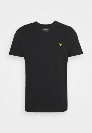 V NECK - T-shirt - bas - true black