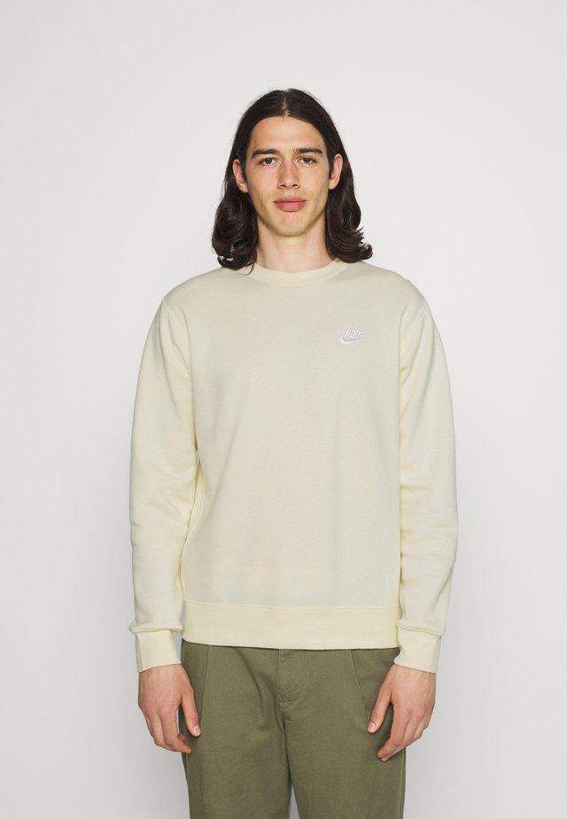 Sweatshirt - coconut milk/white